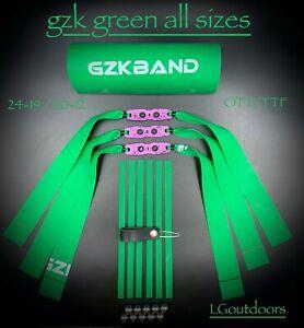 GZK GREEN ALL SIZES TTF / OTT 20-12 / 24-19 PURPLE PIT POUCH band sets x3