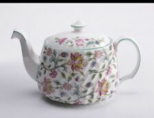 Minton Haddon Hall B1451 Floral Chintz Teapot With Lid-Mint Condition!!!