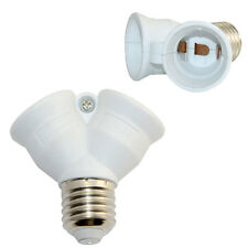 E27 to 2 x E27 Screw Lamp Light Bulb Socket Base Converter Adaptor Holder Split