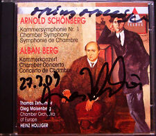 Thomas ZEHETMAIR & HOLLIGER Signed BERG SCHOENBERG Chamber Symphony Concerto CD