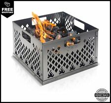 KIBAGA Stainless Steel Charcoal Firebox Basket Oklahoma Joe's Smoker Easy Clean