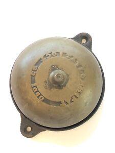 Antique Original Ptd 1880 Taylor Brass Door Bell
