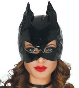 Maschera nera CatWoman in vinile per travestimenti sexy