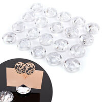 20x Diamond Effect Wedding Hotel Table Photo Memo Number Name Price Card Holders