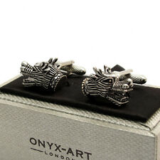 Fabulous Chinese Dragon Cufflinks Cuff Links by Onyx Art New Boxed