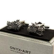 Fabulous Chinese Dragon Cufflinks Cuff Links by Onyx Art New Boxed