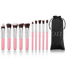 10pcs Cosmetics Foundation Blending Blush Eyeliner Face Powder Makeup Brush Set