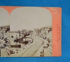 1860/70s Stereoview Photo France Boulogne Sur Mer Quai De La Douane Neurdein