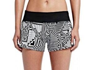 NEW Nike Dri-FIT Running Training Athletic Gym Shorts Geo Blue Womens L $60 NWT