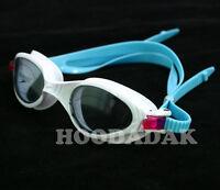 New SPEEDO Adult Swim Goggles UV ANTI FOG LATEX-FREE White-Pink