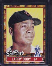 Larry Doby 1982 Cracker Jack Baseball Card # 1 Cleveland Indians OF HOFer NM !