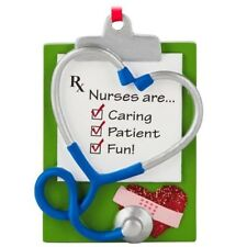 """Hallmark ~""""Nurses Are...Caring - Patient - Fun!""""~  Ornament ~ Not Dated ~ NWT"""