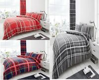 Luxury Newton Tartan Check Duvet Set Pillow Cases 3 PCs duvet/Quilt Cover Set