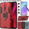 For Xiaomi Mi 9T Redmi K20 Pro Shockproof Stand Ring Holder Case+Tempered Glass