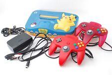NINTENDO 64 Game System Pokemon Pikachu Blue w/ 2 controller from Japan
