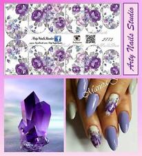 #2773 Slider design for nail art (decal stickers for gel polish, acrylic)