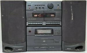 AKAI MINI COMPONENT SYSTEM AM FM RADIO CD CASSETTE PLAYER BLACK FAULTY AC-MX35A
