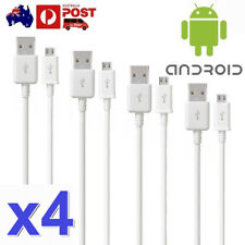 4Pcs Micro USB Charger Cable For Samsung Galaxy S7 Edge S6 S5 S4 Note 5 4 10 HTC