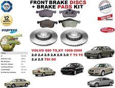 Para Volvo S80 1998-2006 305MM Juego de Discos Freno Delantero + Pastillas Kit
