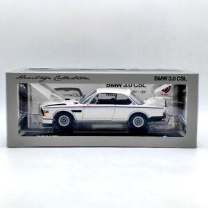 1/18 Scale MINICHAMPS BMW 3.0 CSL 1971 White Door Open Diecast Model Collection