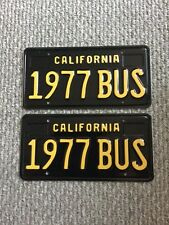 """1977 BUS"" California Black Plates,  VW, Volkswagen, Bus,"