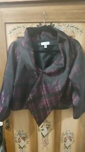 Stunning GITANE ladies silky crop evening jacket (size 12)