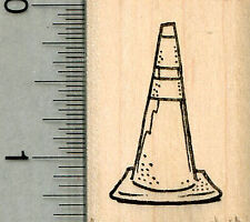 Traffic Cone Rubber Stamp, Construction Equipment Series D34406 WM