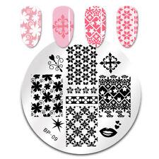 Born Pretty Para Uñas Stamping Placa Manicura Plantilla de imagen Sello de patrones de mezcla