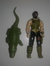 GI JOE Croc Master 1987 Figure w/ Crocodile