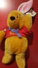 "a Disney 11"" 1999 Easter Winnie the Pooh in Red T-Shirt Mini Bean Bag NWT"