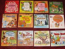 Vintage ~ Lot Of 12 ~ Disneyland Books And Records ~ 1965 - 1973 ~ Excellent
