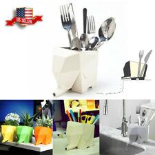 Kitchen Cutlery Drainer Tableware Holder Jumbo Elephant Pen Organizer Plant Pot