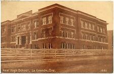 New High School in La Grande OR Postcard 1911