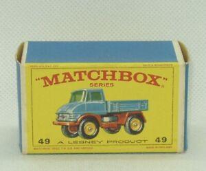 Moko Matchbox Lesney #49 Mercedes-Benz Unimog Truck Original Box Only