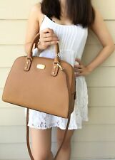 NWT Michael Kors Acorn Brown Saffiano  Large Satchel Bag Purse Tote Authentic