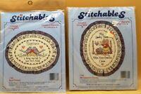 2 NIP Stitchables Cross Stitch Kits 7789 My Laundry Room & 7788 Best Friend