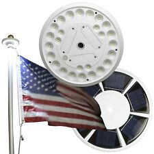 Ships From Us Solar Flagpole Light 26Leds Top Mount +Camping Garden Dusk to Dawn