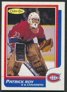 1986-87 OPC Patrick Roy (Centered - Nm) RC #53