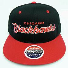 CHICAGO BLACKHAWKS NHL VINTAGE SNAPBACK RETRO 2-TONE ZEPHYR SCRIPT CAP HAT NEW!
