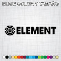 Vinilo adhesivo ELEMENT, pegatina, logo, autocollant, moto, surf, skate, decal.