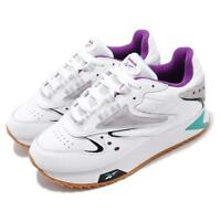 Reebok CL LTHR ATI 90s W White Teal Purple Womens Classic Shoes Sneakers DV5376