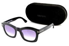 8852e8430e83 RARE Genuine NEW TOM FORD GRETA Shiny Black Violet Sunglasses TF 431 FT  0431 01Z