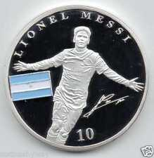 Lionel Messi Barcelona World Cup 2014 Brazil Silver Coin Autographed Legend Nice