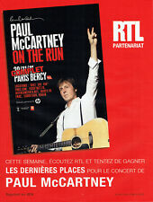 Publicité Advertising 018  2011  concert Paul Mc Cartney on the run & radio RTL