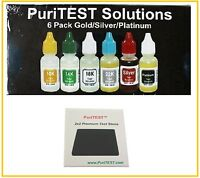 Puritest Gold Test Acid Kit 10K 14K 18K 22K Silver Detector Metal Jewelry Tester