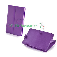 CUSTODIA SIMIL PELLE UNIVERSALE PER TABLET IPAD DISPLAY 7 POLLICI COLORE VIOLA