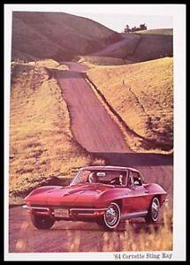 1964 Chevy Corvette Sting Ray Dealer Brochure, Vette GM 64