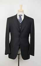 NWT BRIONI Nomentano 21 Navy Stripe Wool 3 Button 3 Piece Suit 50/40 R $7150