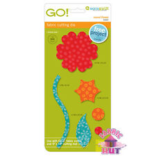 55007 - AccuQuilt GO! Big & Baby Round Flower Fabric Cutting Die Quilt Applique