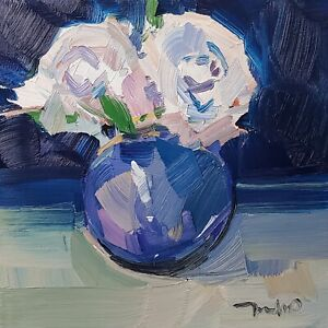 JOSE TRUJILLO Oil Painting IMPRESSIONISM Contemporary COLLECTIBLE Still Life